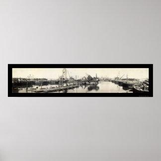 USS Maine Destruction Photo 1911 Poster