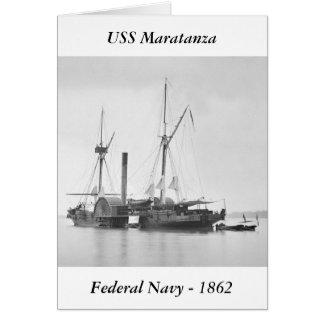 USS Maratanza, 1862 Greeting Card