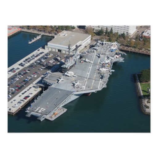 USS Midway Aerial Photo Poster