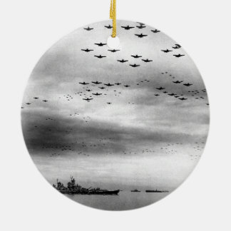 USS Missouri Flyover Surrender of Japan Christmas Ornament