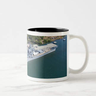 USS Missouri, Peral Harbor, Honolulu, Hawaii Two-Tone Coffee Mug