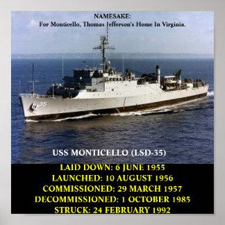 USS MONTICELLO (LSD-35) POSTER