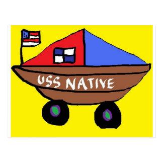 USS NATIVE POSTCARD