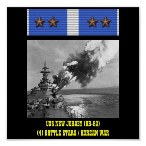 USS NEW JERSEY (BB-62) POSTER