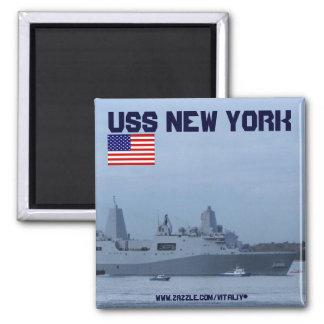 USS New York battleship magnet design