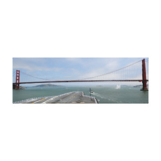 USS Nimitz at the Golden Gate Stretched Canvas Print