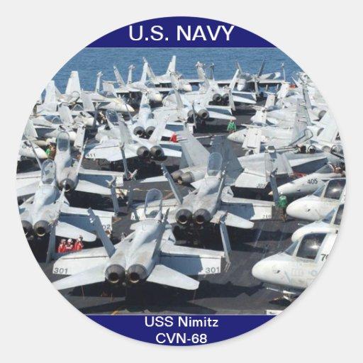 USS Nimitz CVN-68 Aircraft Sticker