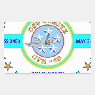 """USS NIMITZ CVN-68 """" OLD SALT"""" NAVY CARRIER RECTANGULAR STICKER"""
