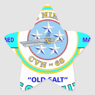 "USS NIMITZ CVN-68 "" OLD SALT"" NAVY CARRIER STAR STICKER"