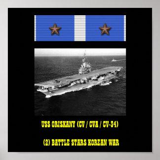 USS ORISKANY (CV / CVA / CV-34)  POSTER
