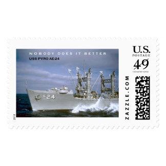 USS PYRO AE-24 1ST CLASS POSTAGE STAMP