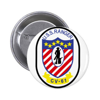USS Ranger (CV-61) 6 Cm Round Badge