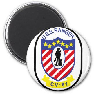 USS Ranger (CV-61) 6 Cm Round Magnet