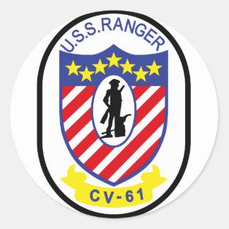 USS Ranger (CV-61) Round Sticker