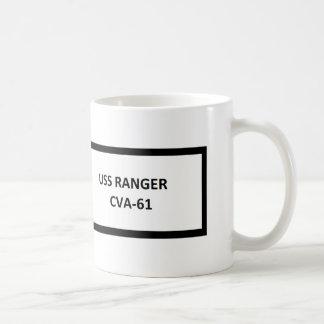 USS RANGER VIETNAM WAR VETERAN BASIC WHITE MUG