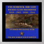 USS Schenck (DD-159) Poster