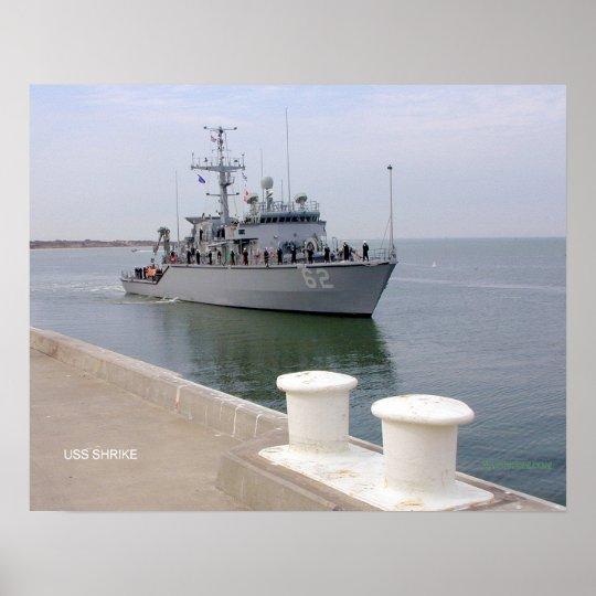 USS Shrike (MHC 62) Poster