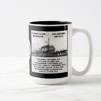 USS Simpson DD-221 Coffee Mugs