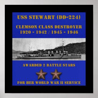 USS Stewart (DD-224) Poster