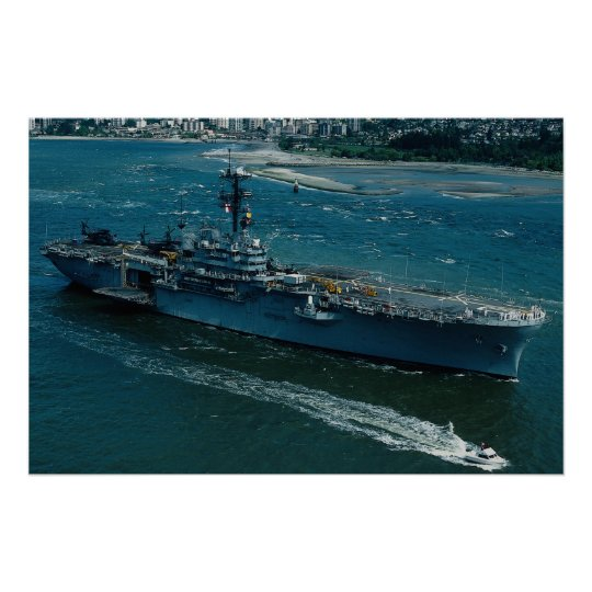 """USS Tripoli"""", LPH 10 Helicopter assault ship Poster"""