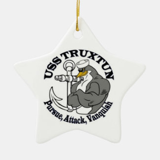 USS TRUXTUN Christmas Ornament