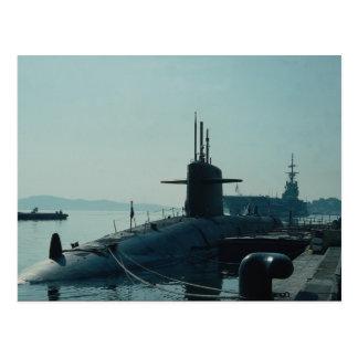 """USS Ulysses Grant"""" ballistic missile submarine SSB Postcard"""