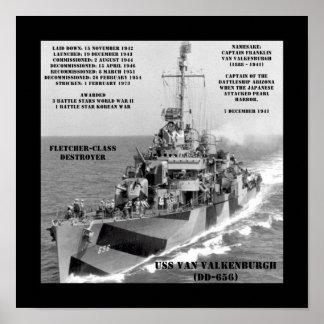 USS Van Valkenburgh (DD-656) Posters