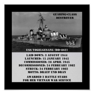 USS Vogelgesang (DD-862) Print