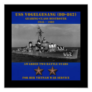 USS Vogelgesang (DD-862) Poster