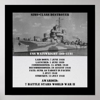 USS Wainwright (DD-419) Print