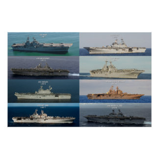 USS Wasp Class Aircraft Carriers Poster