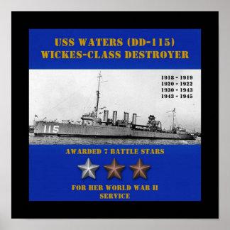 USS Waters (DD-115) Print