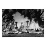 USS West Virginia at Pearl Harbour Poster