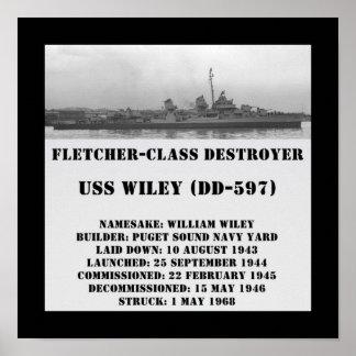 USS Wiley (DD-597) Print