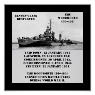 USS Woodworth (DD-460) Print