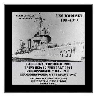 USS Woolsey (DD-437) Print