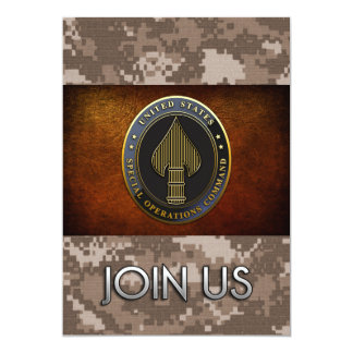 USSOCOM Emblem 13 Cm X 18 Cm Invitation Card