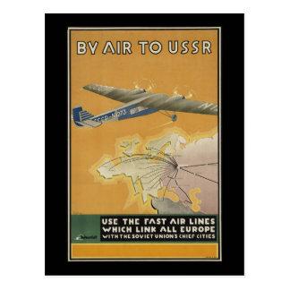 USSR Airplane Postcard