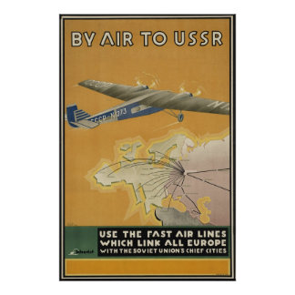 USSR Airplane Poster