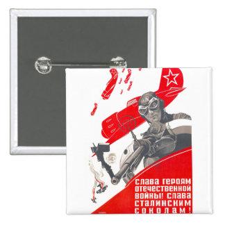 USSR CCCP Cold War Soviet Union Propaganda Posters 15 Cm Square Badge