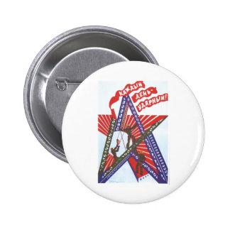 USSR CCCP Cold War Soviet Union Propaganda Posters 6 Cm Round Badge
