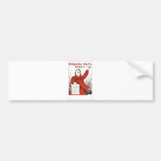 USSR CCCP Cold War Soviet Union Propaganda Posters Bumper Sticker