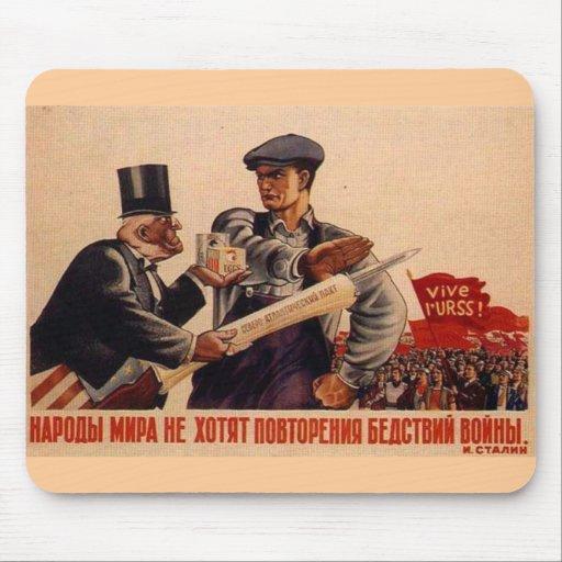 USSR CCCP Cold War Soviet Union Propaganda Posters Mousepad