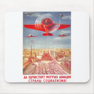 USSR CCCP Cold War Soviet Union Propaganda Posters Mouse Pad