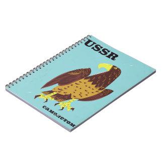 USSR Eagle vintage travel poster Notebook