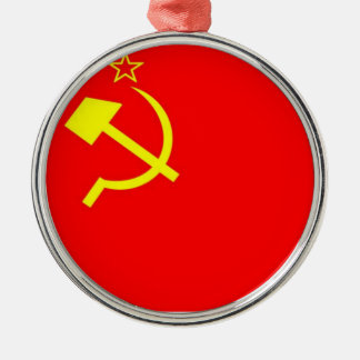 USSR Flag Christmas Ornament