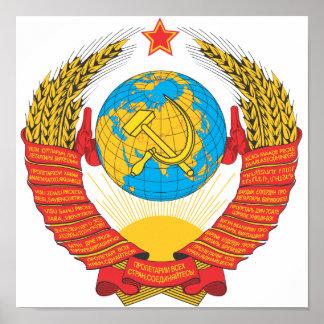USSR national emblem Poster