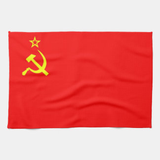 ussr russia soviet communist country flag towel