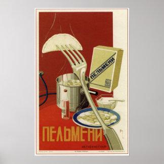 USSR Soviet Pelmeni Advertising 1936 Posters