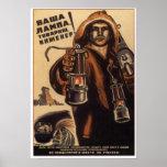 USSR Soviet Propaganda 1933 Poster